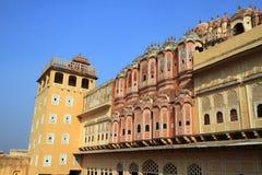 Hawa Mahal - дворец ветра в Джайпуре, Раджастхане, Индии Стоковое Изображение