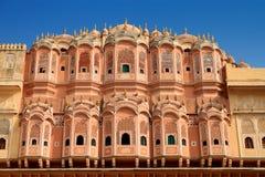 Hawa Mahal - дворец ветра в Джайпуре, Раджастхане, Индии Стоковое Изображение RF