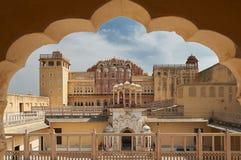 Hawa Mahal, дворец ветров, Jaipur, Раджастхан, Индия Стоковая Фотография RF