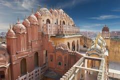 Hawa Mahal, дворец ветров, Jaipur, Раджастхан, Индия Стоковая Фотография