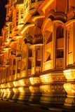 Hawa Mahal alla notte immagini stock