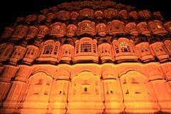 Hawa Mahal alla notte. (Jaipur). Fotografia Stock Libera da Diritti