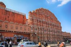 Hawa Mahal, ciudad rosada, Jaipur Fotos de archivo