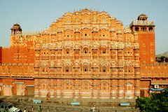 Hawa Mahal, el palacio de los vientos, Jaipur, la India imágenes de archivo libres de regalías