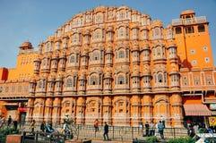 Hawa Mahal em Jaipur, Índia Foto de Stock Royalty Free