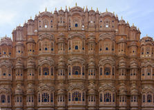 Hawa Mahal - facade in red sandstone Royalty Free Stock Photos