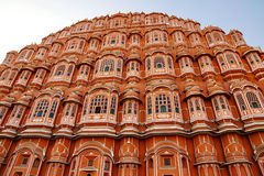 Hawa Mahal: Het mooie paleis in Jaipur, Rajasthan, India Stock Foto's