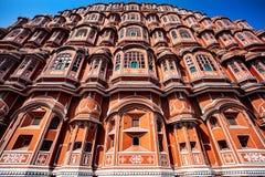 Hawa Mahal i Rajasthan Arkivbild