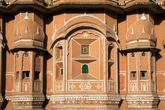 Hawa Mahal, Jaipur, detail of facade Stock Images