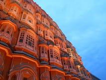 Hawa Mahal, Jaipur en un día lluvioso fotografía de archivo