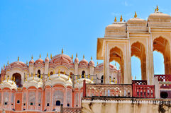 Hawa Mahal, Jaipur, India. Details of Hawa Mahal, The Palace pf Winds, Jaipur, Rajasthan, India royalty free stock images