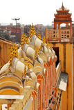 Hawa Mahal, Jaipur, India. Details of Hawa Mahal, The Palace pf Winds, Jaipur, Rajasthan, India stock photography