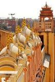 Hawa Mahal, Jaipur, India. Details of Hawa Mahal, The Palace pf Winds, Jaipur, Rajasthan, India Stock Photography