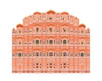 Hawa Mahal, Jaipur, India. Vector illustration. Hawa Mahal, Jaipur, India. Isolated on white background vector illustration Stock Photography