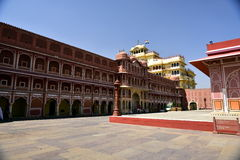 Hawa Mahal, Jaipur Indie, Inside. The palace of Jaipur, erected in 1799 on the initiative of the Sawai Pratapa Singh maharaja, is a perfect example of Rajputs Royalty Free Stock Photo