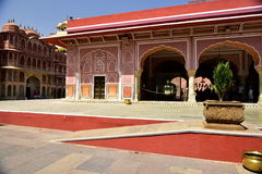 Hawa Mahal, Jaipur Indie, Inside. The palace of Jaipur, erected in 1799 on the initiative of the Sawai Pratapa Singh maharaja, is a perfect example of Rajputs Stock Images