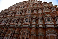 Hawa Mahal, Jaipur Indie. The palace of Jaipur, erected in 1799 on the initiative of the Sawai Pratapa Singh maharaja, is a perfect example of Rajputs Stock Images