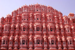 Hawa Mahal, Jaipur, la India. Fotos de archivo