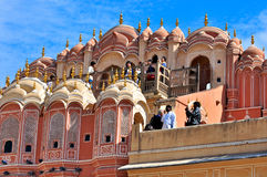 Hawa Mahal, Jaipur, la India. Fotografía de archivo
