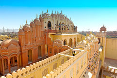 Hawa Mahal, Jaipur, la India. imagenes de archivo