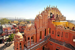 Hawa Mahal, Jaipur, la India. Foto de archivo