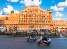 Hawa Mahal - Jaipur. Hawa Mahal - Palace of the Winds with Busy Street in the Foreground - Jaipur, India royalty free stock image