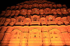 Hawa Mahal  At Night.(jaipur). Royalty Free Stock Photography