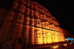 Hawa Mahal At Night.(jaipur). royalty free stock photo