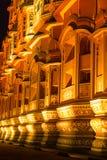 Hawa Mahal på natten arkivbilder