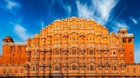 Hawa Mahal Palace dos ventos, Jaipur, Rajasthan Imagens de Stock