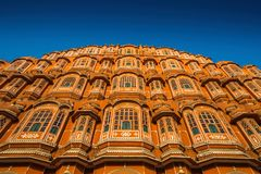 Hawa Mahal palace Palace of the Winds in Jaipur, In. Hawa Mahal, a palace in Jaipur, India, which was built so the women of the royal household could observe Royalty Free Stock Image