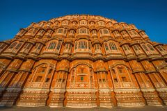 Hawa Mahal palace Palace of the Winds in Jaipur, Rajasthan, In. Hawa Mahal, a palace in Jaipur, India, which was built so the women of the royal household could Royalty Free Stock Photo