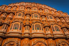 Hawa Mahal palace Palace of the Winds in Jaipur, Rajasthan, In. Hawa Mahal, a palace in Jaipur, India, which was built so the women of the royal household could Stock Photo