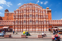 Hawa Mahal palace, Jaipur. JAIPUR, INDIA - OCTOBER 09: Hawa Mahal palace - Palace of the Winds on October 09, 2013, Jaipur, India royalty free stock images