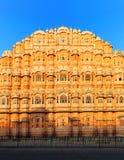 Hawa Mahal Palace na Índia, Rajasthan, Jaipur. Palácio dos ventos Imagem de Stock