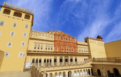 Hawa Mahal Palace (Palace of Winds), famous landmark of Jaipur Royalty Free Stock Photo