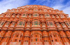 Hawa Mahal Palace (Palace of Winds), famous landmark of Jaipur Stock Photos