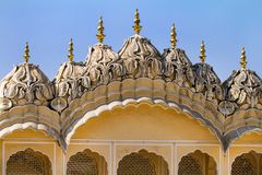 Hawa Mahal palace (Palace of the Winds). Famous Rajasthan landmark - Hawa Mahal palace (Palace of the Winds), Jaipur, Rajasthan Royalty Free Stock Images