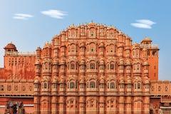 Hawa Mahal, Palace of the Winds in India. Facade of Hawa Mahal palace in Jaipur, Rajasthan Royalty Free Stock Photo