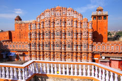 Hawa Mahal - Palace of the Winds in Jaipur, Rajasthan, India. Stock Photography