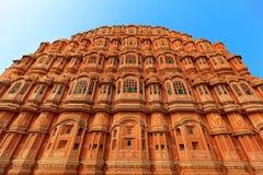Hawa Mahal-Palast (Palast der Winde) in Indien Stockfotografie
