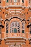 Hawa Mahal - Paleis van de Winden (detail) Stock Afbeeldingen