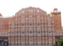 Hawa Mahal of Paleis van Winden, Overweldigende Architectuur van in Jaipur, Rajasthan, India Stock Afbeelding