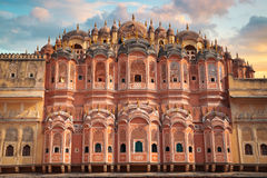 Hawa Mahal. Pink Palace Jaipur - Hawa Mahal. India, Rajasthan Royalty Free Stock Photo