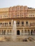 Hawa Mahal, Rajastan, Джайпур, Индия, 2012, 3-ье января Стоковые Изображения RF