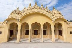Hawa Mahal slott av vindar, Jaipur Arkivfoton