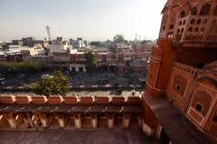 Hawa Mahal slott i Jaipur Royaltyfri Foto