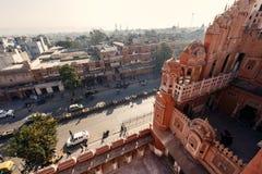 Hawa Mahal slott i Jaipur Fotografering för Bildbyråer