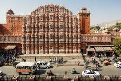 Hawa Mahal slott i Jaipur Royaltyfri Bild