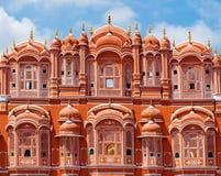 Hawa Mahal slott i Jaipur, Rajasthan Royaltyfri Fotografi